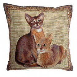 Egyptian Cats Tapestry Cushion - 50x50cm