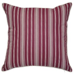 Burgundy Stripes Cushion - 45x45cm