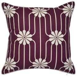 Bloom Plum Cushion - 45x45cm