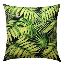 Tropical Fronds Ebony Outdoor Cushion - 45x45cm