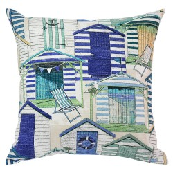 Beach Huts Pool Cushion - 45x45cm