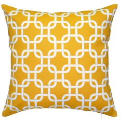 Gotcha Yellow Outdoor Cushion - 45x45cm