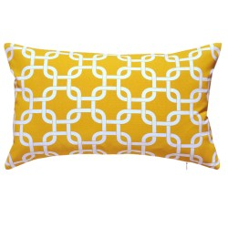 Gotcha Yellow Outdoor Cushion - 30x50cm