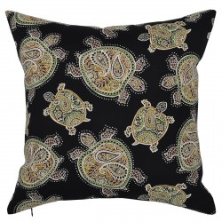 Tranquil Turtles Black Cushion - 45x45cm