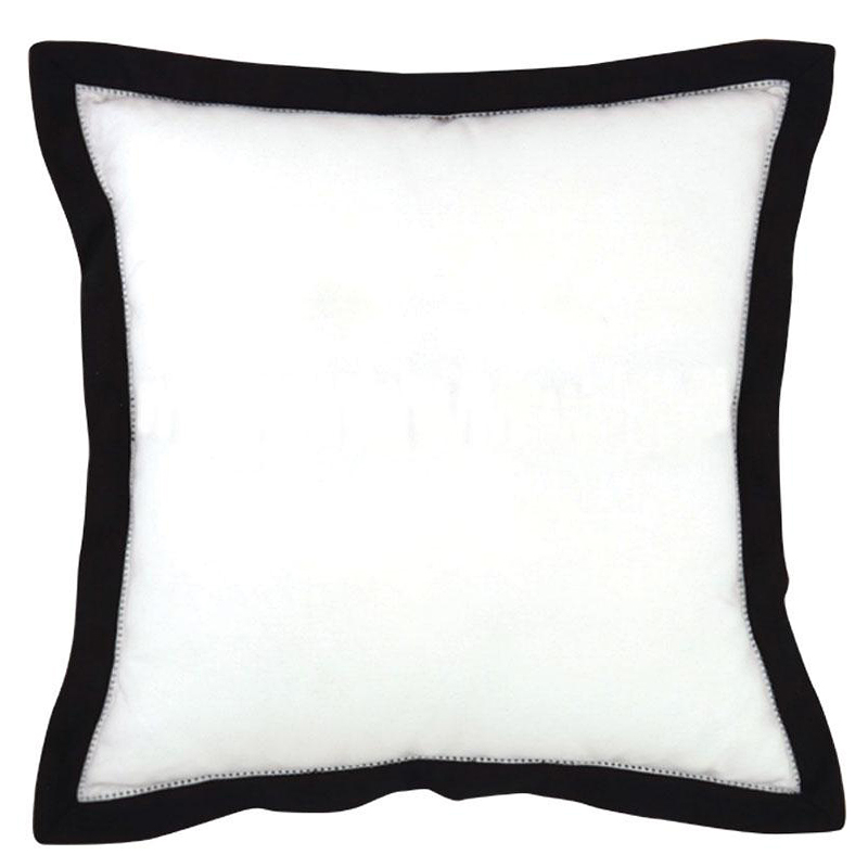 In / Outdoor Black and White Stripe Fabric Cushion with Ties for Swing ~ Bench ~ Glider. Indoor/Outdoor Fabric. Cushion is filled with soft, comfy, premium solid poly-fiber foam.