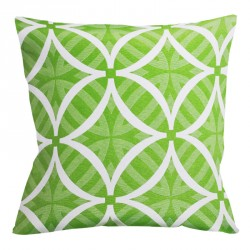 Coolum Lime Reverse Outdoor Cushion - 45x45cm