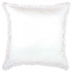 Lunatic Fringe White Cushion - 50x50cm
