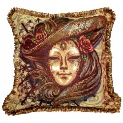 Carnival Night Tapestry Cushion - 50x50cm