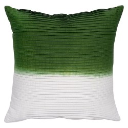 Dip-Dyed Green Cushion - 45x45cm