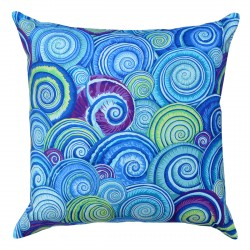 Spiral Shells Blue Cushion - 45x45cm
