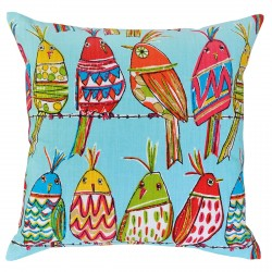 Cute Birds Blue Cushion - 45x45cm