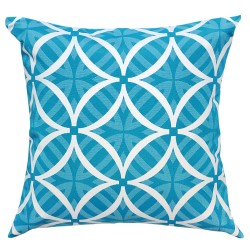 Coolum Turquoise Reverse Outdoor Cushion - 45x45cm
