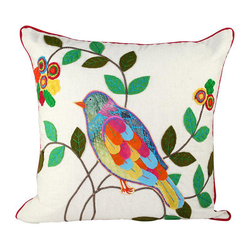 Home shop cushions appliqued cushions havana bird cushion 45x45cm