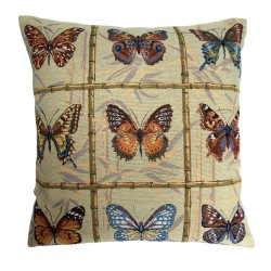 Butterflies Tapestry Cushion - 50x50cm