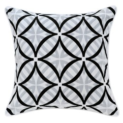 Coolum Ash Outdoor Cushion with White Piping - 45x45cm