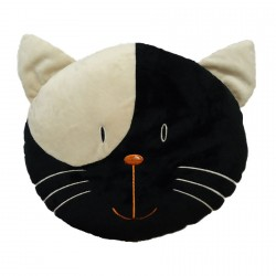 Black Cat Head Cushion 35cm