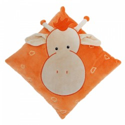 Orange Giraffe Cushion 30cm