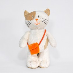 Beige Standing Cat with a Bag