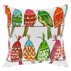 Cute Birds Cushion - 45x45cm
