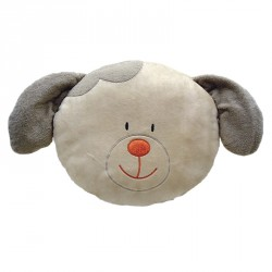 Round Dog Beige Cushion 35cm