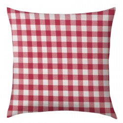 Red and White Gingham Cushion 45x45cm