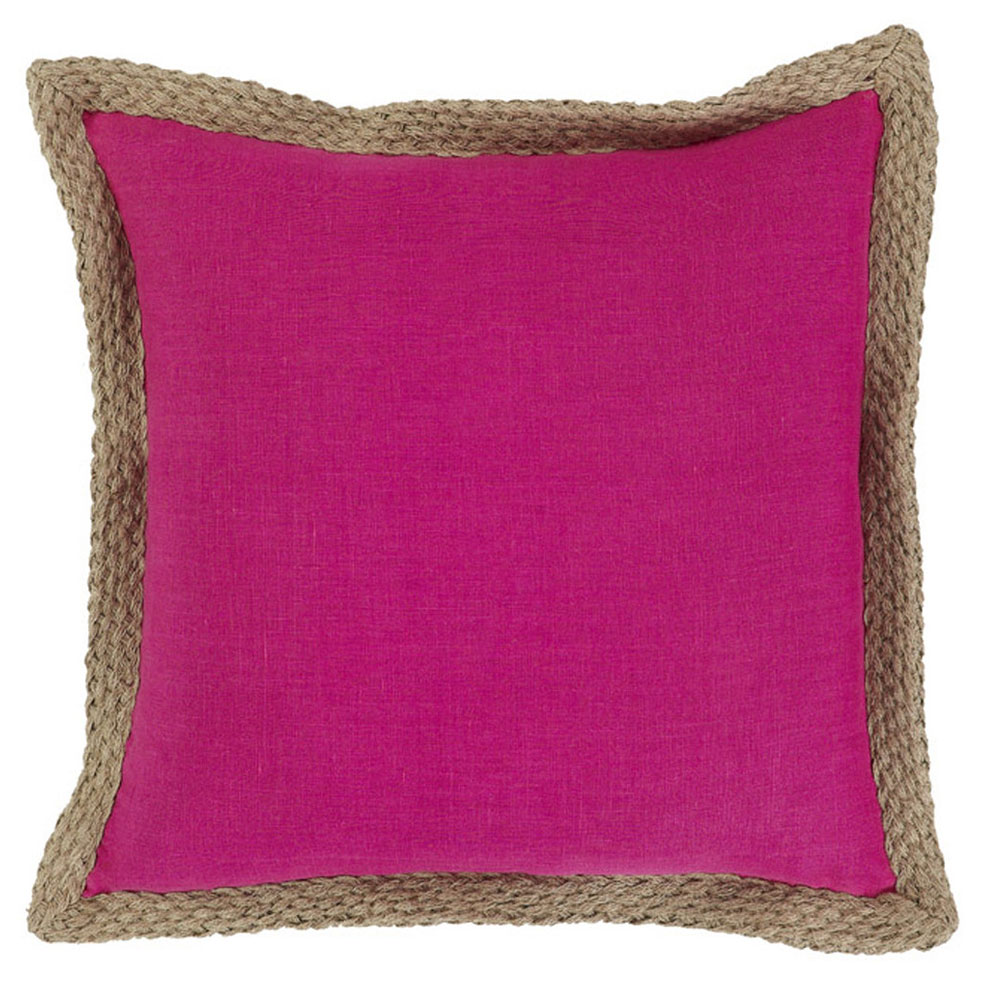 Mornington Linen Hot Pink Cushion - 50x50cm
