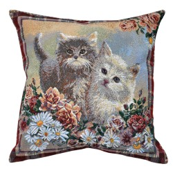 Kittens Tapestry Cushion - 50x50cm