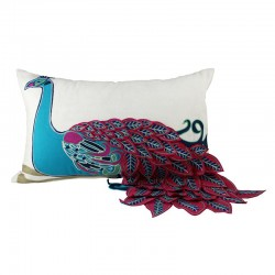 Proud Peacock Rectangle Cushion - 30x50cm