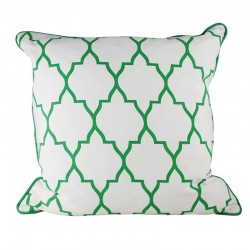 Zanzibar Reverse Green Cushion - 45x45cm