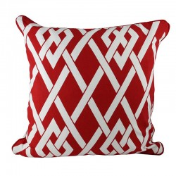 Coastal Knot Red Cushion - 45x45cm