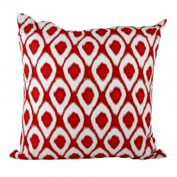 Ikat New Red Cushion - 45x45cm