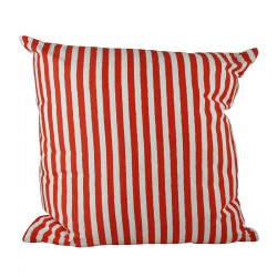 Sailor Stripe Orange Cushion - 45x45cm