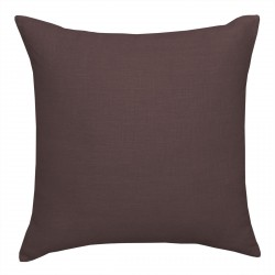 European Linen Dark Chocolate Cushion - 45x45cm