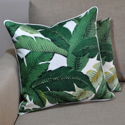 Palms Aloe Cushion with Cloud Piping 45x45cm