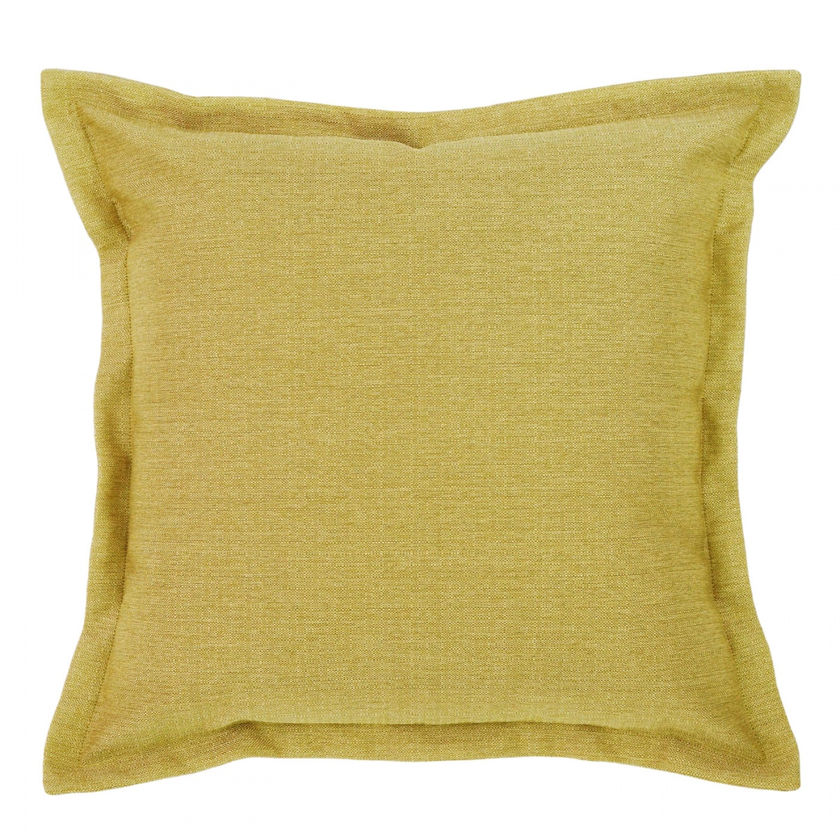 Vegas Chartreuse Cushion with Flange - 45x45cm