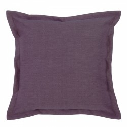 Vegas Eggplant Cushion with Flange - 45x45cm