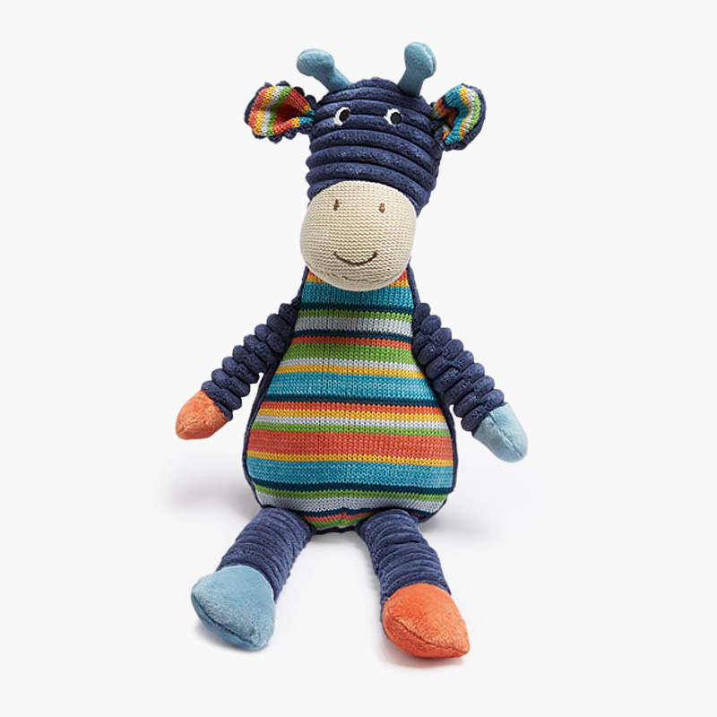 Blue Striped Giraffe Toy 43cm
