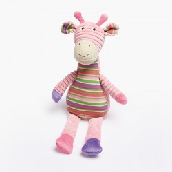 Pink Striped Giraffe Toy 43cm