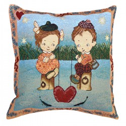 River of Love Tapestry Cushion - 50x50cm