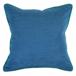 Bendigo Azure Cushion with Envy Piping - 45x45cm