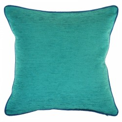Bendigo Envy Cushion with Azure Piping 45x45cm