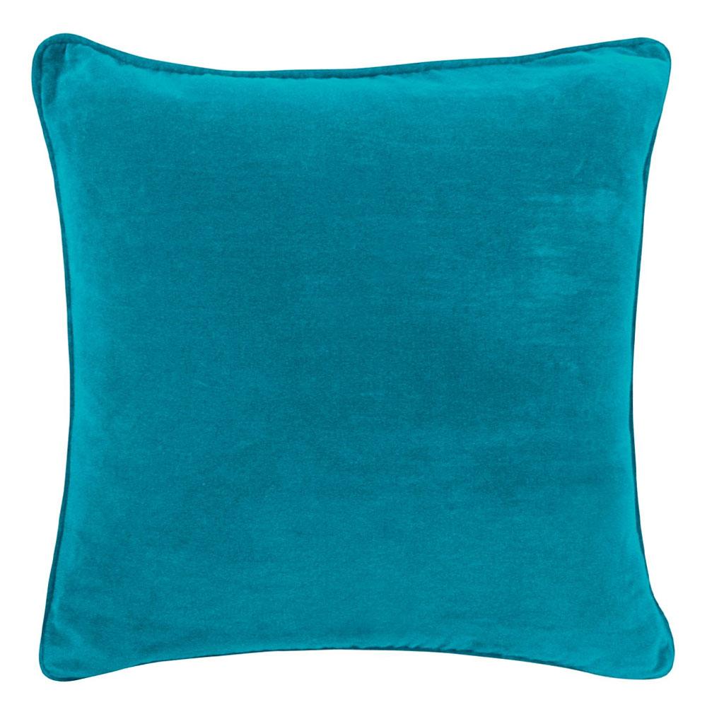 The Velvet Turquoise Cushion 45x45cm Hupper