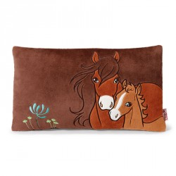 Cushion NICI Soulmates with horse Flower and foal Little