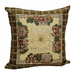 Village Tapestry Cushion 45x45cm