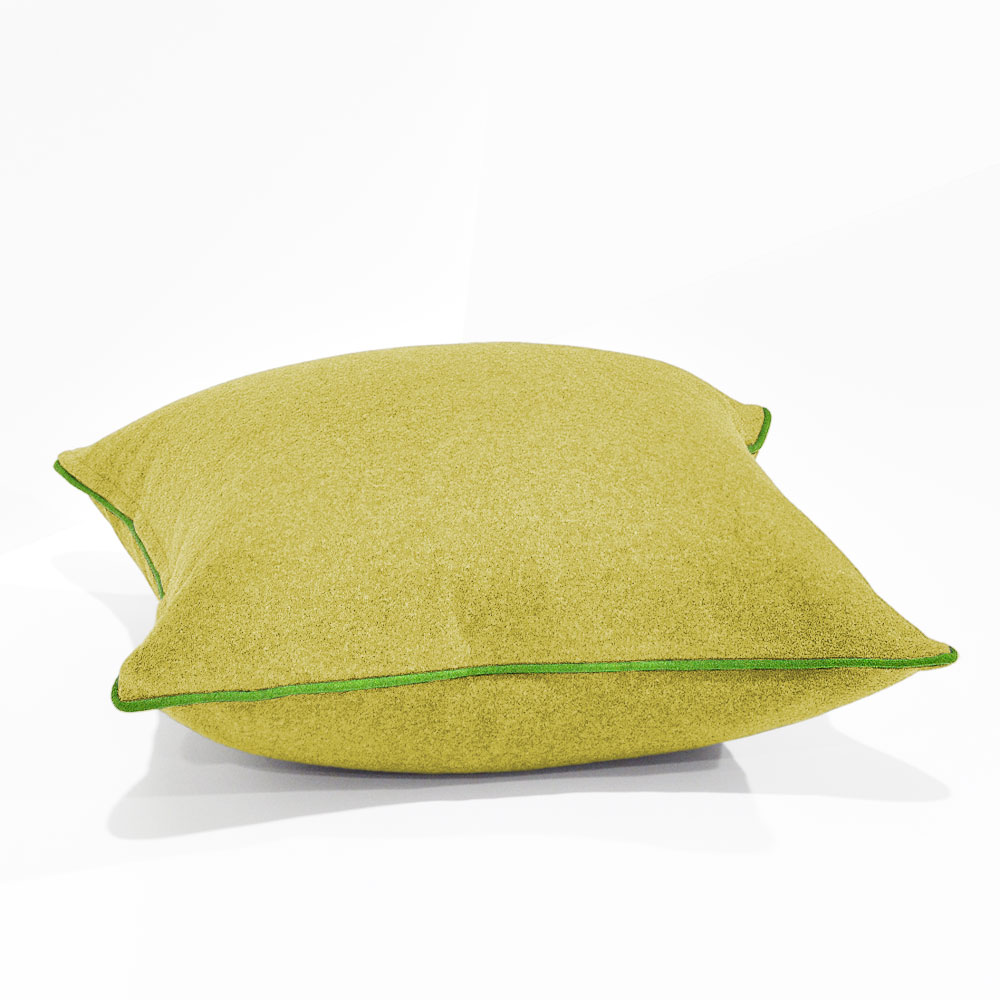Augustus Turmeric/Lime Floor Cushion - 60x60cm