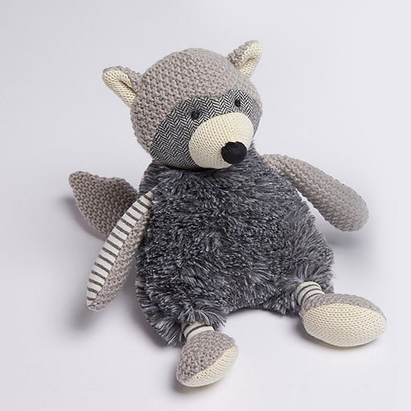 Grey Racoon Toy 18cm