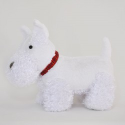 White Scottie Dog Soft Toy 35cm