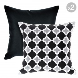 Kona Ash + Bells Beach Ash Outdoor Cushions - 45x45cm