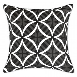 Coolum Ash Reverse Outdoor Cushion with White Piping - 45x45cm