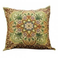 Ornamental Flowers Tapestry Cushion - 50x50cm